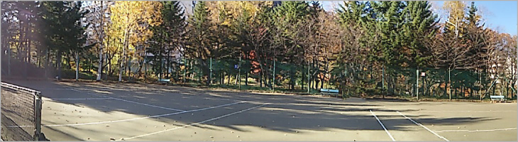 春の大会風景 定山渓スポーツ公園 テニスコート